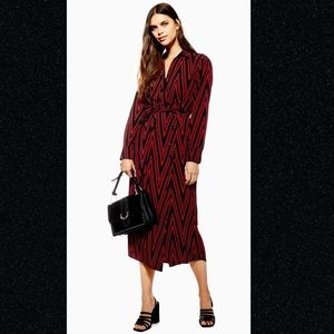 Topshop Wrap Top Belted Shirtdress Maxi Dress